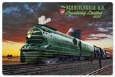 Pennsylvania Rail Road Metal Sign  18 x 12 Inches