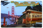 Cable Car Cafe Metal Sign  18 x 12 Inches