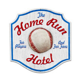 Retro Home Run Hotel Custom Metal Shape Sign 20 x 20 Inches