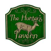 Retro Hunters Tavern Custom Metal Shape Sign 20 x 20 Inches