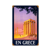 Retro Greece  Metal Sign 12 x 18 Inches