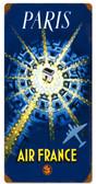 Retro Paris Air France  Metal Sign 12 x 24 Inches