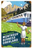 Retro Switzerland Railway  Metal Sign 12 x 18 Inches