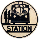 Bus Stop Automotive Metal Sign 14 x 14 Inches