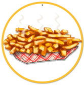 Fries Food and Drink Metal Sign 14 x 14 Inches
