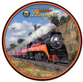 Daylight Train Round Metal Sign