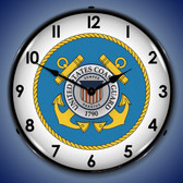 Retro US Coast Guard Lighted Wall Clock