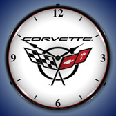 Retro C5 Corvette 2 Lighted Wall Clock