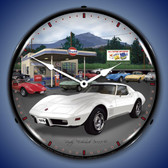 Retro 1976 Corvette Lighted Wall Clock