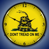 Retro Don't Tread On Me Lighted Wall Clock
