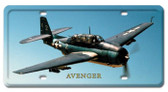 Vintage-Retro Avenger License Plate
