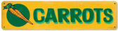 Retro Carrots Metal Sign 20 x 5 Inches