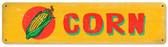 Retro Corn Metal Sign 20 x 5 Inches