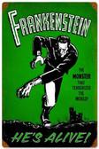 Retro Frankenstein Alive Vintage Metal Sign 12 x 18 Inches