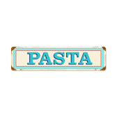 Blue Pasta Vintage Metal Sign 20 x 5 Inches