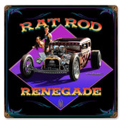 Rat Rod Renegade Vintage Metal Sign 12 x 12 Inches