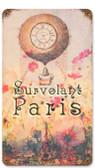 Survolant Paris Vintage Metal Sign   8 x 14 Inches