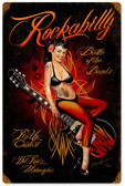 Rockabilly Vintage Metal Sign 12 x 18 Inches