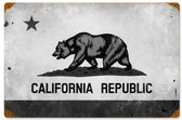 California Flag Vintage Metal Sign 18 x 12 Inches