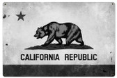 California Flag Metal Sign 36 x 24 Inches
