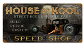 House of Kool Vintage Metal Sign 24 x 12 Inches