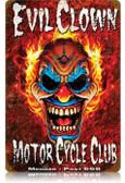 Vintage-Retro Evil Clown Metal-Tin Sign