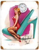 High Heel Time Vintage Metal Sign 12 x 15 Inches