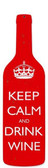 Keep Calm Custom Shape Metal Sign 8 x 26 Inches