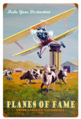 Planes of Fame Vintage Metal Sign 16 x 24 Inches