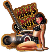 Mans Ruin Custom Shape Metal Sign 22 x 24 Inches