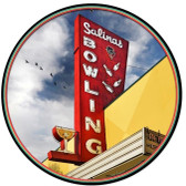 Salinas Bowl Round Metal Sign 28 x 28 Inches