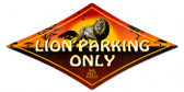 Vintage-Retro Lion Parking Diamond Metal-Tin Sign