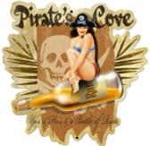 Retro Pirates Cove Custom Shape Metal 23 x 24 Inches