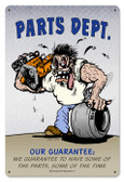 Vintage-Retro Parts Dept Metal-Tin Sign