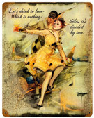 Drink to Love Vintage Metal Sign 12 x 15 Inches