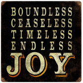 Endless Joy Vintage Metal Sign 12 x 12 Inches
