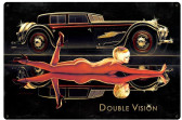 Double Vision Pin Up Girl Large Metal Sign 24 x 36 Inches