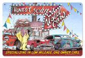 Vintage-Retro Honest Johns Used Cars Metal-Tin Sign
