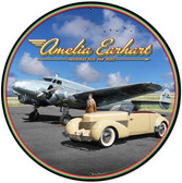 Amelia Earhart Metal Sign 28 x 28 Inches