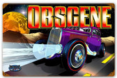 Obscene Vintage Retro Metal Sign 12 x 18 Inches