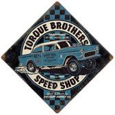 Torque Brothers SpeedShop Metal Sign 12 x 12 Inches