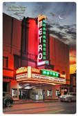 Metro Theatre Metal Sign 12 x 18 Inches