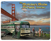 Golden Gate Bridge Diner    Metal Sign 12 x 15 Inches