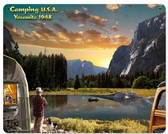 Camping USA 1948  Metal Sign 15 x 12 Inches