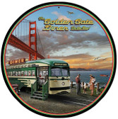 Golden Gate Bridge Diner   Round Metal Sign 14 x 14 Inches