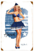 Air Force Girl  Metal Sign 12 x 18 Inches