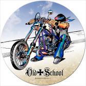 Vintage-Retro Old School Round Metal-Tin Sign