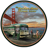 Golden Gate Diner Round Metal Sign 28 x 28 Inches