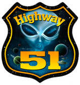 Vintage-Retro Highway 51 Shield Metal-Tin Sign