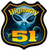 Vintage-Retro Highway 51 Shield Metal-Tin Sign